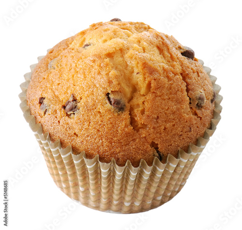 Fotografie, Obraz  Tasty muffin isolated on white background
