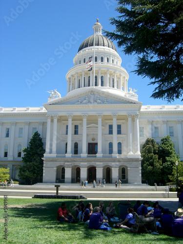 Siège du gouverneur de la californie - Arnold Schwarzenegger Canvas Print