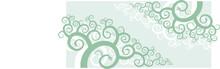 A Corner Vignette - Swirl Shape Floral Ornament.