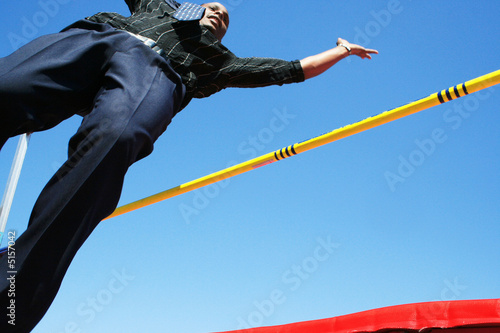 High jump Canvas Print