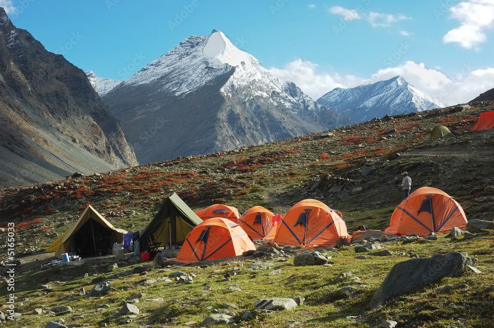 Fototapety, obrazy: Trekking camp