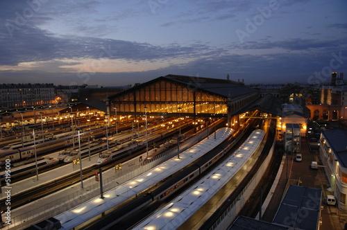 Foto auf AluDibond Bahnhof paris gare du nord