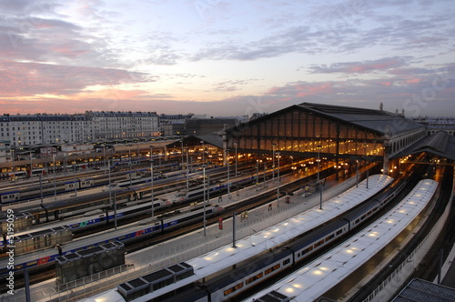 Photo sur Toile Gares paris gare du nord