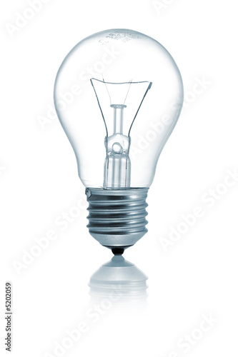 Fotografía  Light bulb isolated on a white background