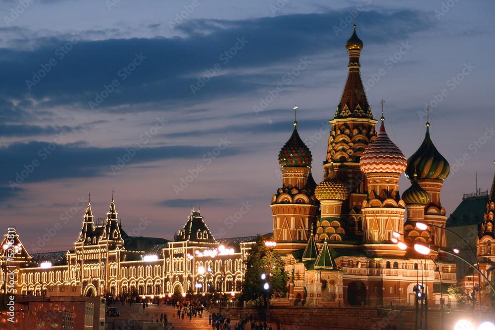Fototapety, obrazy: Russland, Moskau, Basiliuskathedrale