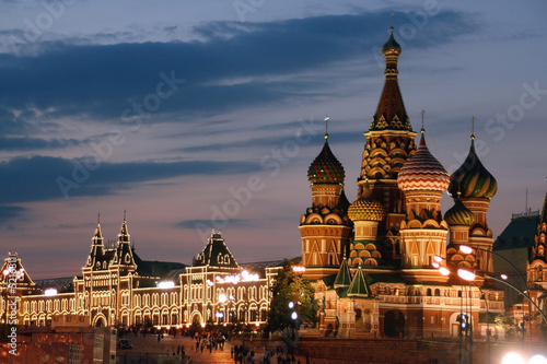Fotobehang Moskou Russland, Moskau, Basiliuskathedrale