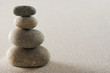 canvas print picture Four stacked stones
