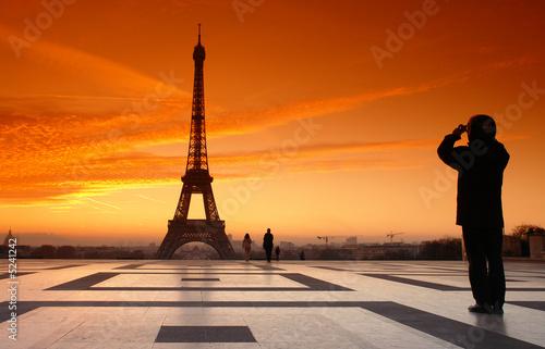 Spoed Foto op Canvas Parijs Tour eiffel