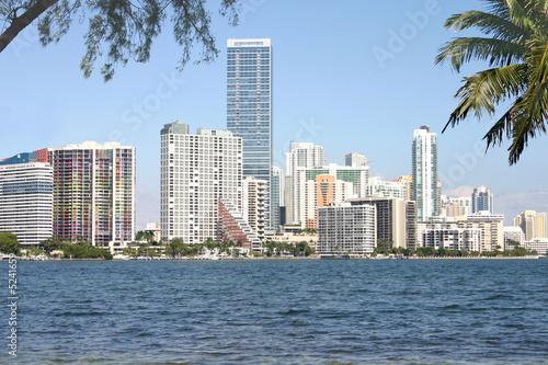 Foto-Kassettenrollo premium - Miami Skyline from Key Biscayne