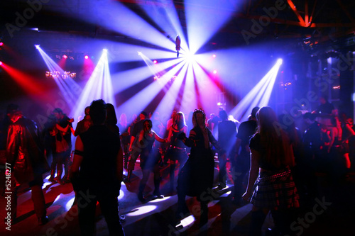 Canvas Prints Dance School Dancing people in an underground club