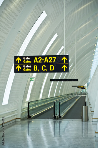 Poster Aeroport Airport gates guide