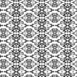 Seamless black ornament pattern on white