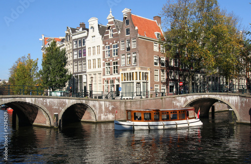 Photo  Historic Amsterdam touringboat