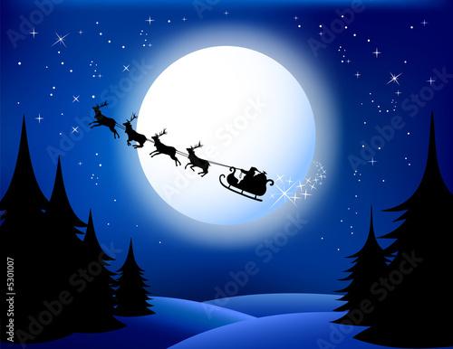 Foto-Plissee - Santa`s sleigh (von xygo_bg)