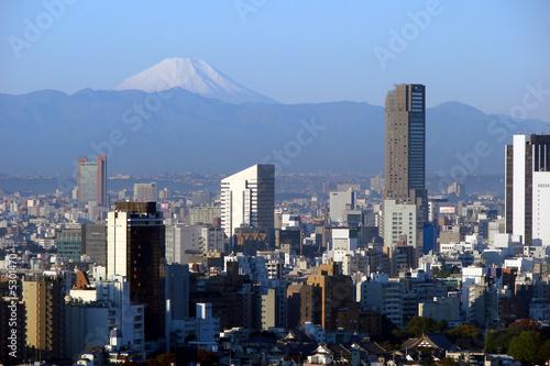 Photo  Mont Fuji vu de Tokyo