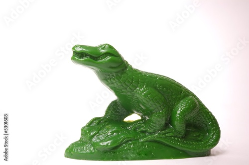 Photo  Green Alligator Statue