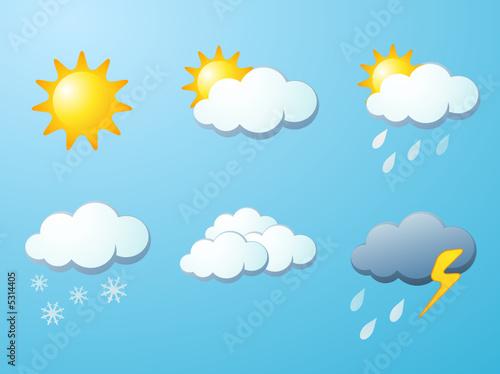 Foto-Stoff - Weather icon set (von davooda)