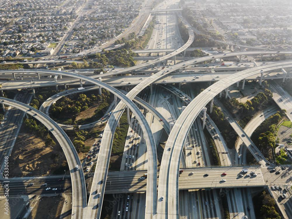 Fototapeta Highway interchange.