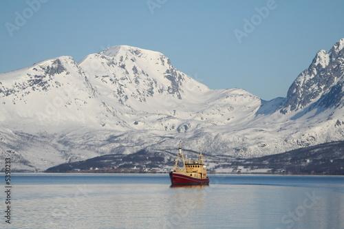 Poster Antarctique Montagne Norvège