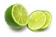 The tropical fruit known as lime. The image is isolated on white