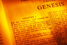 Holy Bible Open To Genesis, Ch...