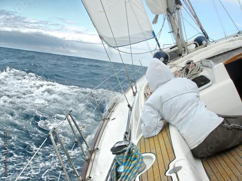 Leinwand Poster Segel-Yacht