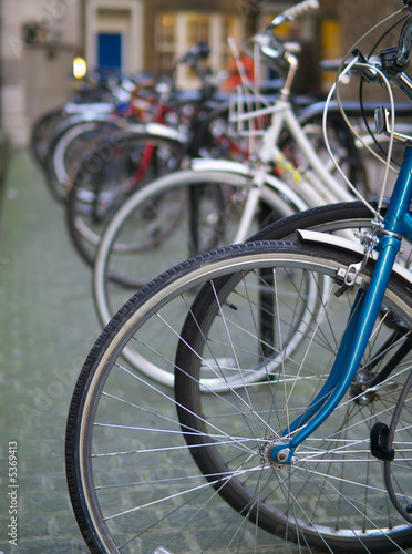 Staande foto Fiets bicycles abstract, shallow focus.