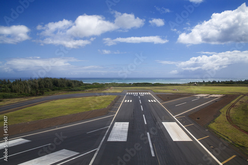 Airport runway. Canvas Print