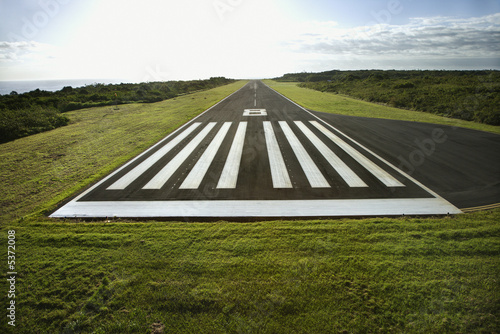 Photo Airplane landing strip.