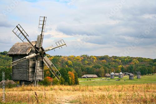 Aluminium Prints Mills Old Wooden Windmill
