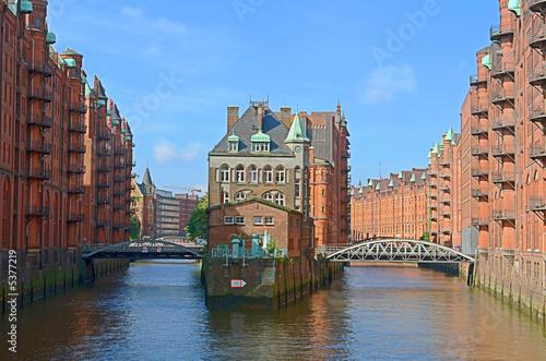 Foto-Flächenvorhang - Speicherstadt in Hamburg (von Harald Bolten)
