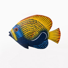 Colorful Painted Fish Sculpture.
