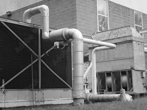 Large Pipes and Fan Canvas Print