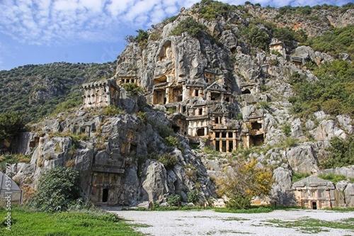 Deurstickers Turkije Myra Rock Tombs sc.1