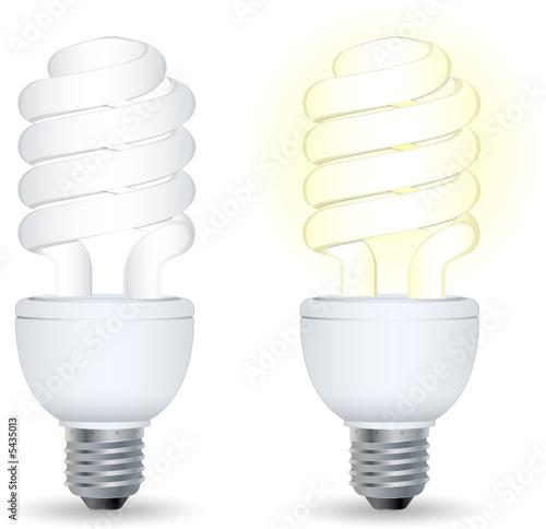 Fotografía Ampoule basse comsommation, image vectorielle