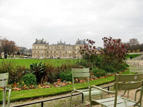 Chaises De Fer Et Senat Jardin Du Luxembourg Paris Buy This