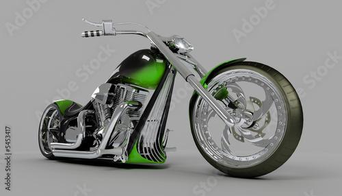 nisko-osadzony-zielony-motocykl-robiony-na-zamowienie