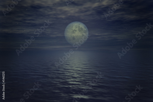 Poster Pleine lune Mond