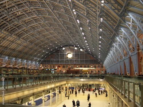 In de dag Treinstation St Pancras International