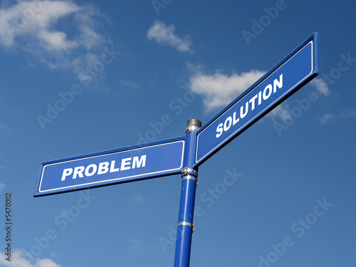 Problem and Solution signpost Canvas Print