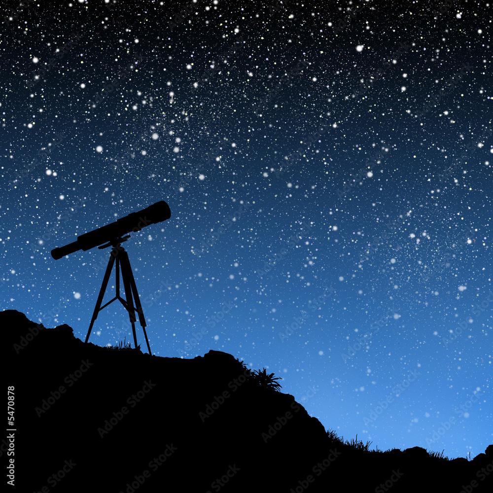 Fototapety, obrazy: Telescope Under the Stars