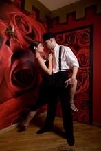 Couple In Love Dancing Latino ...
