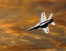 Image Of A F-18 Hornet Fighter...