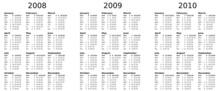 Multiyear Calendar (2008-2009-...
