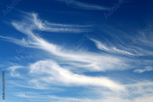 Aluminium Prints Heaven cirrus clouds