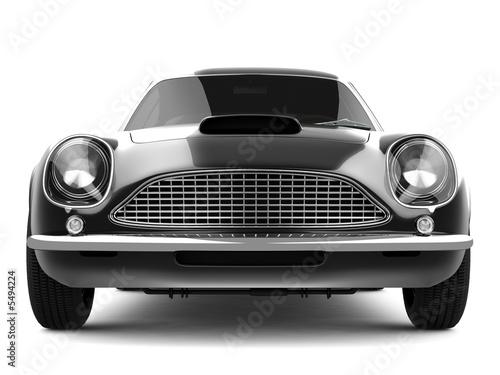 Photo  Black Classical Sports Car