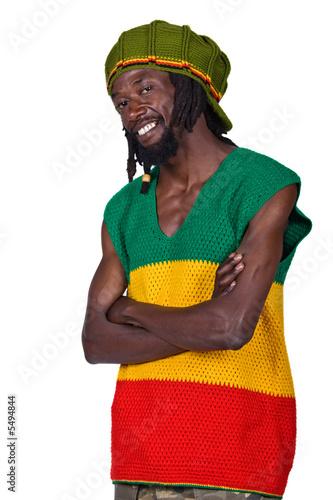 Fotografie, Obraz  portrait of rasta man with traditional clothes