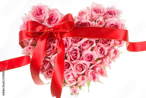 love shape roses
