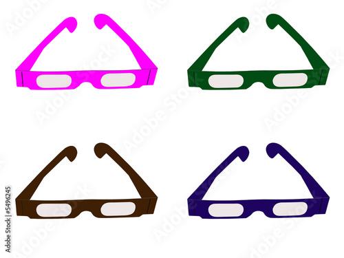 Fotografie, Obraz  lunettes de couleurs