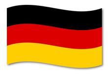 Deutschland Fahne Schatten